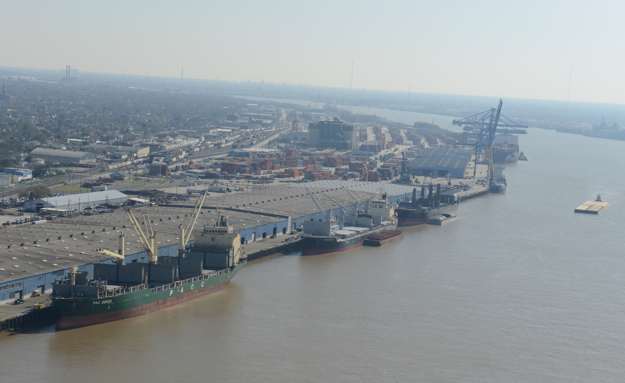 Breakbulk Vessels at Nashville Avenue Wharves